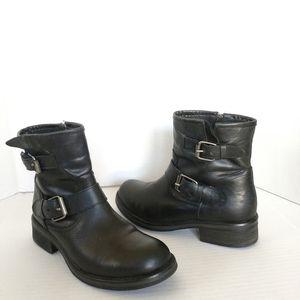 Steve Madden Blanco black Moto boots size 9